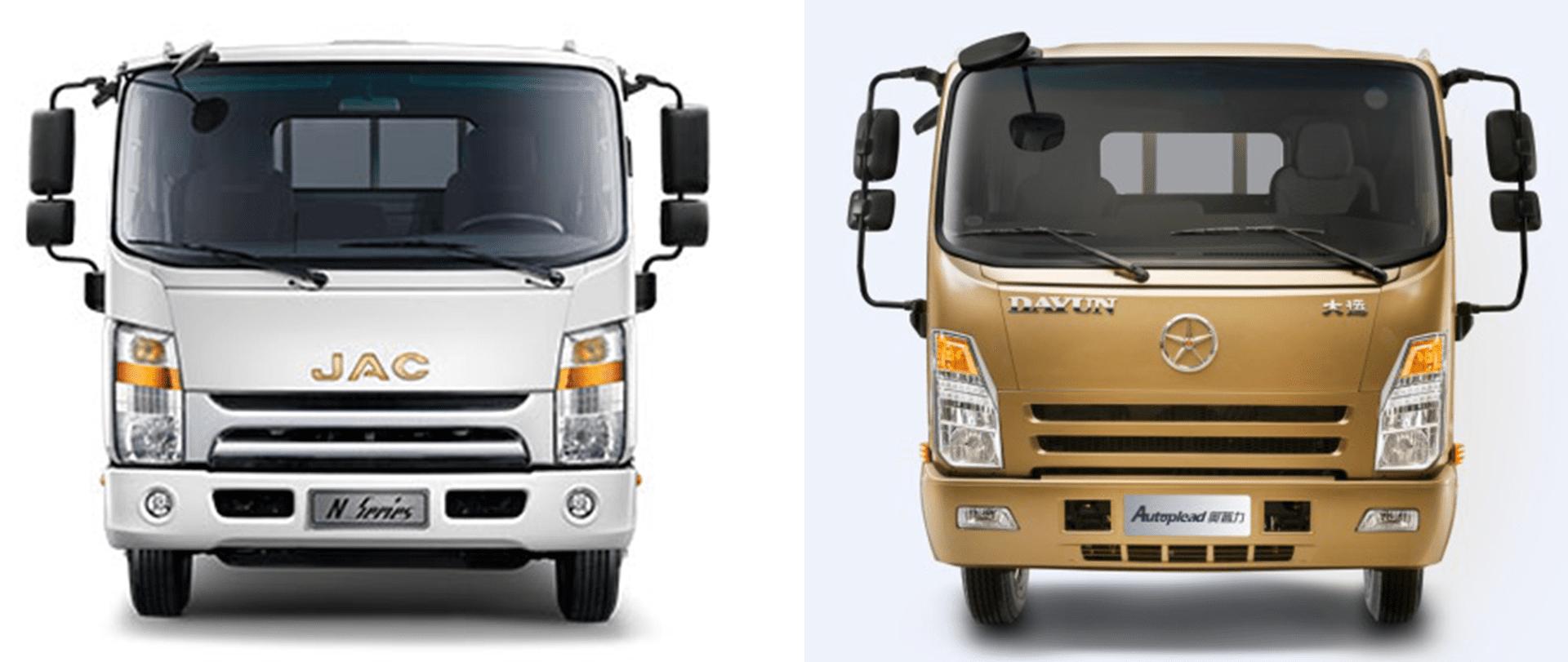 مقایسه 2 کامیونت جک و دایون
